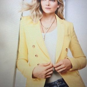 ***Fabulous*** WHBM Trophy Jacket in Canary NWT